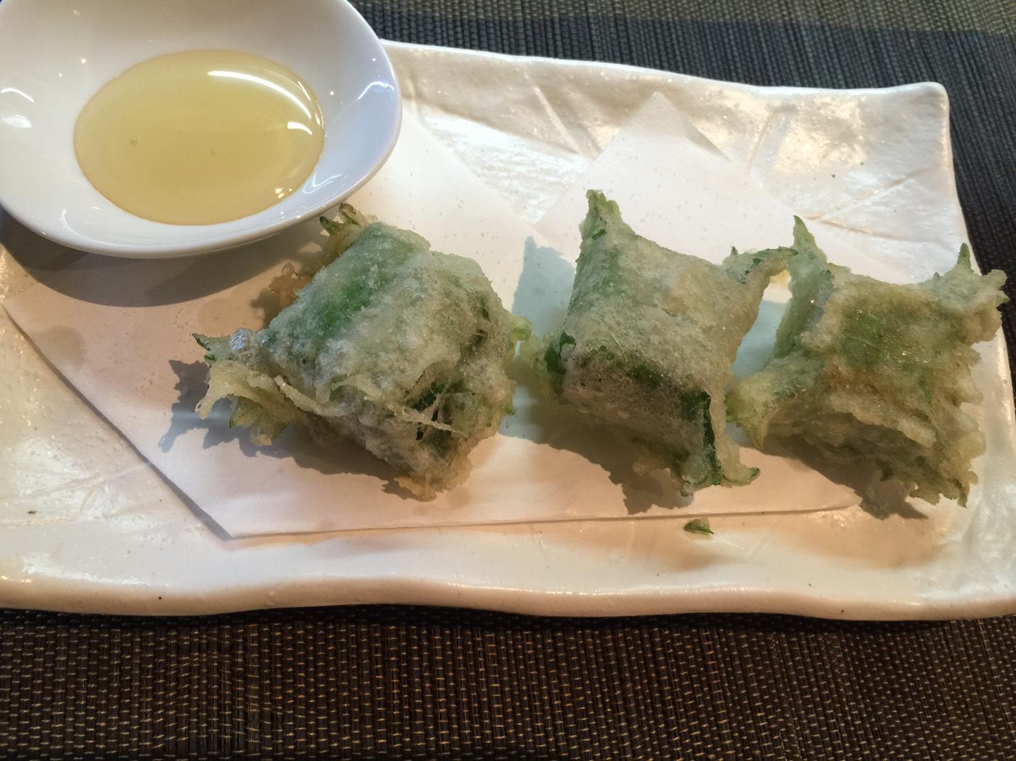 クリームチーズの天ぷら2